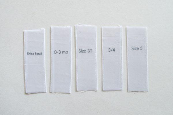 58 Size Labels Samples
