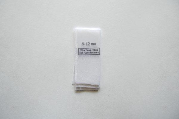 78 Sleepwear Size Labels 9-12 mo